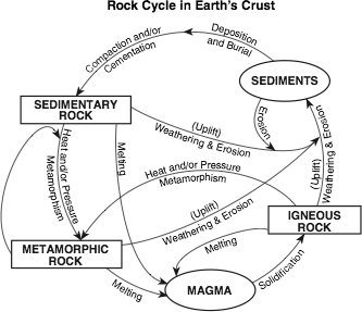Triand edit test identify two processes labeled in this rock cycle that must occur in order to change any rock into an igneous rock ccuart Images