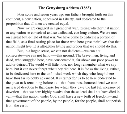 graphic relating to Gettysburg Address Printable known as triand - very simple on the net pupil tests